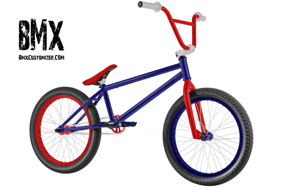 Red White And Blue American Flag Bmx Bike