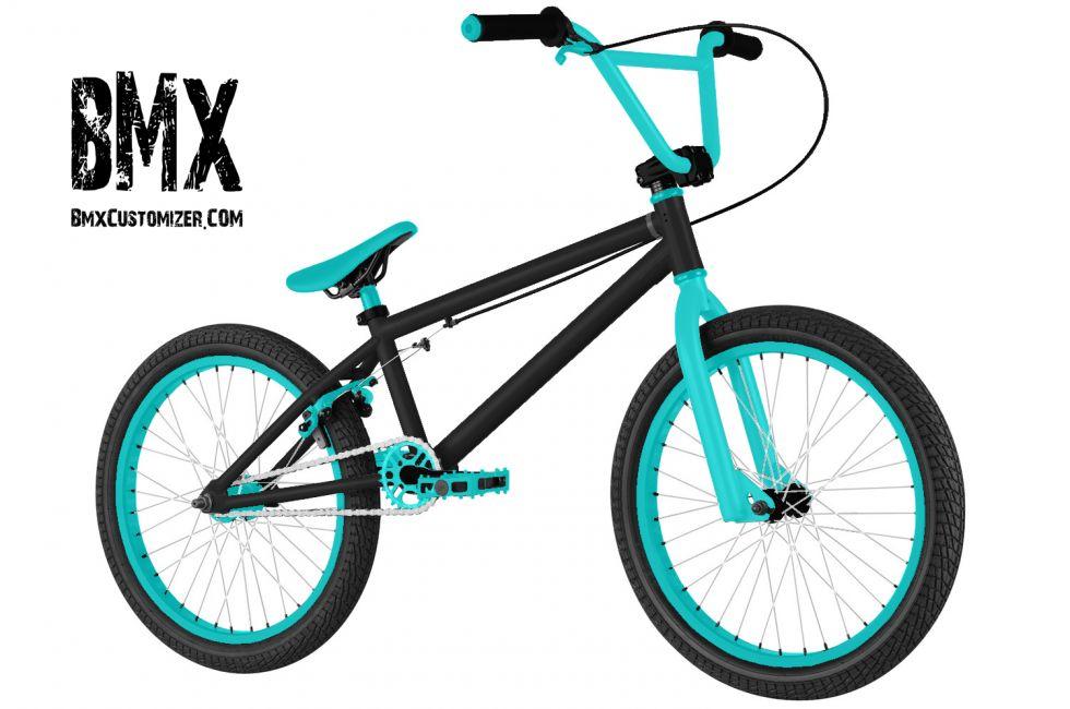 BMX freestyle noir et bleu turquoise fluo cree by Modz_WaRiio