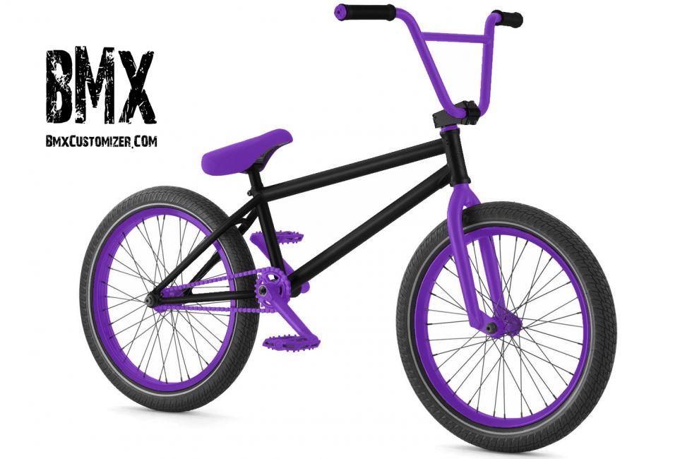 Bmx Bike Black Purple
