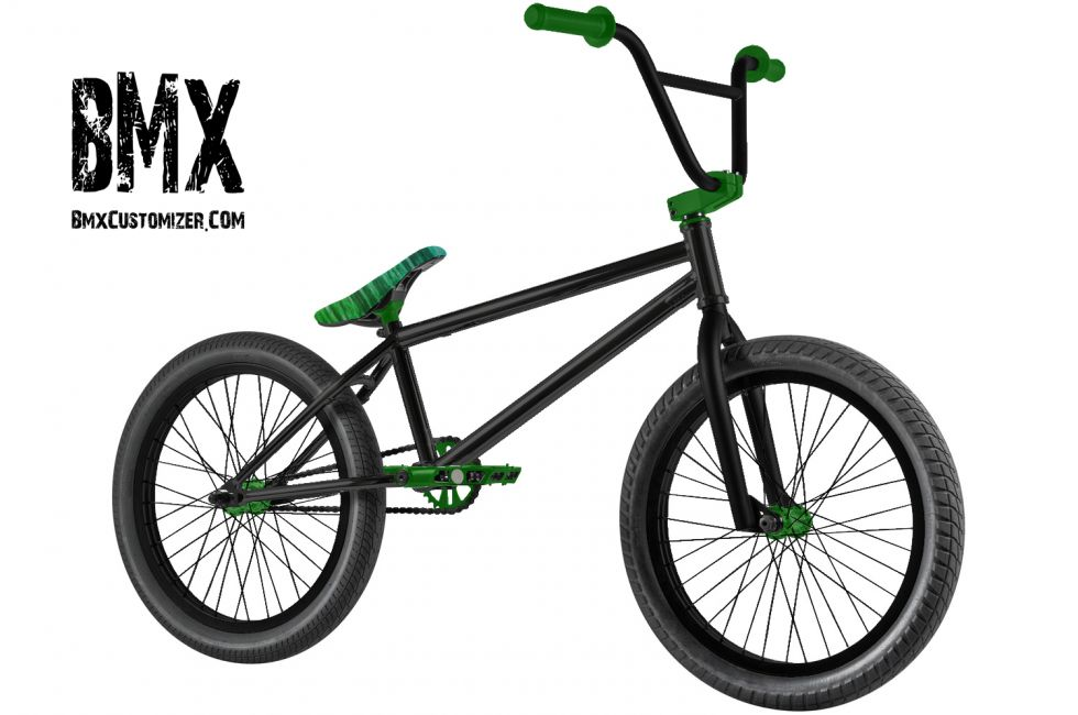 It Is An Army Green And Black Bmx Bike
