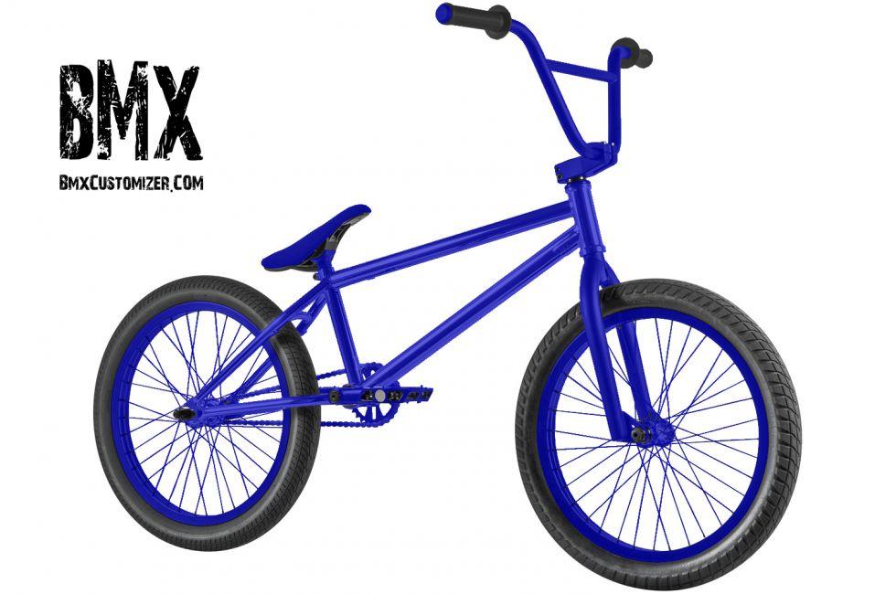 All Blue Bmx Bike