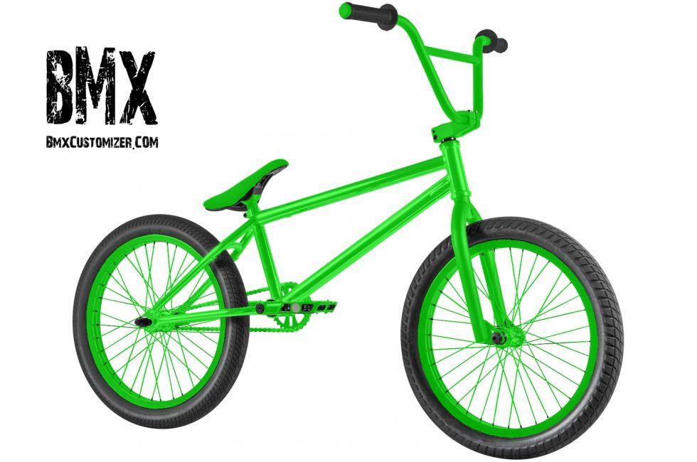 All Green Bmx Bike
