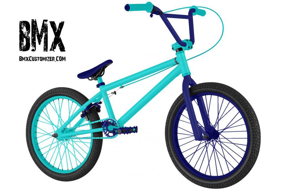 Light Blue And Dark Blue Bmx Bike